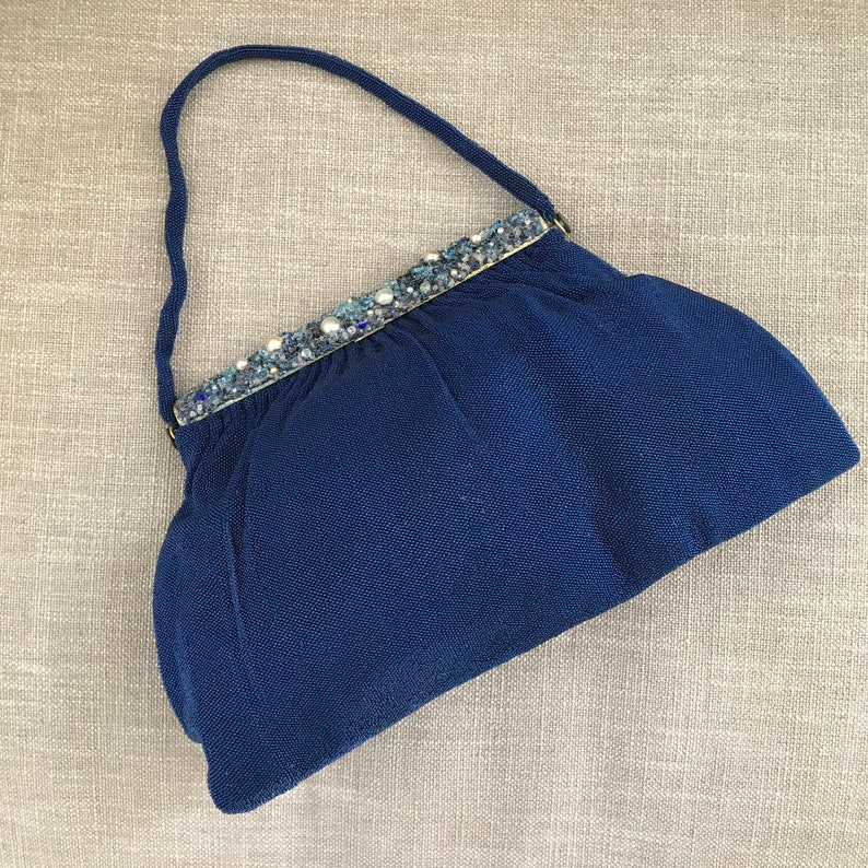 Vintage Beaded Bag hand made in France