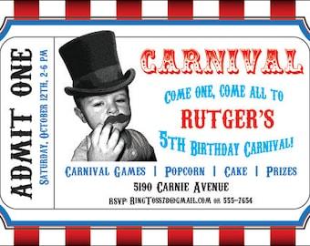 Circus Birthday Card Etsy