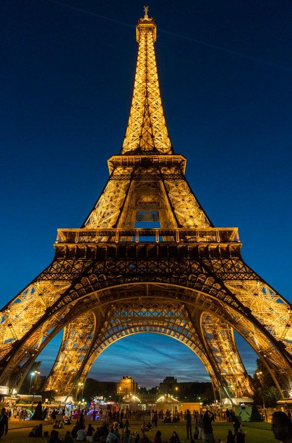 The Eiffel Tower Paris France Sunset Skyline Architecture Cityscape Art Photography Large Format Travel Beautiful