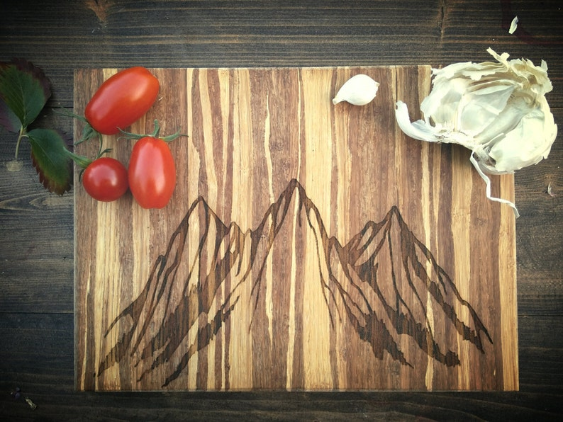 Colorado Mountains Free Personalization Mountain Range Board Three Peaks