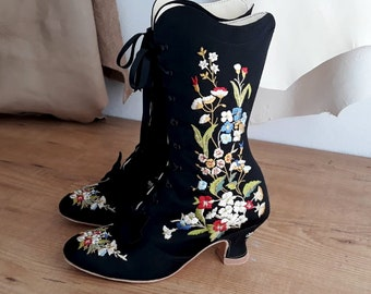 Pinet Boots - Victorian Embroidered Boot Embroidery - Digital Files only
