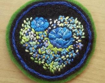 Garden Heart Badge (patch, pin, brooch, magnet)