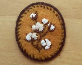 Cotton Badge: Soft-Spoken Version (patch, pin, brooch, magnet)