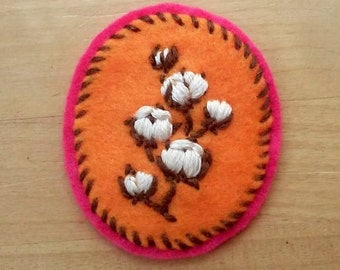 Cotton Badge: Bold Version (patch, pin, brooch, magnet)