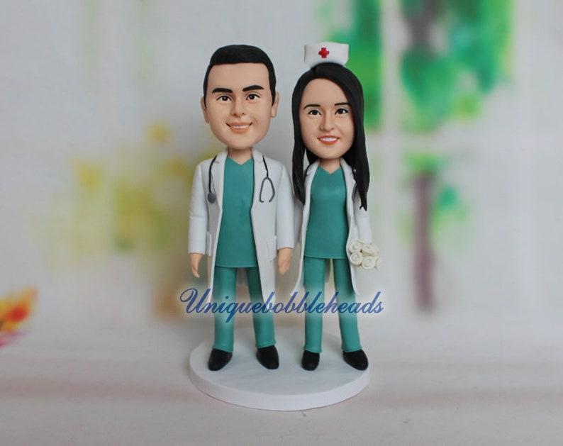 wedding topper doctor figurine bobblehead nurse bobblehead surgeon bobblehead custom figurine cake topper