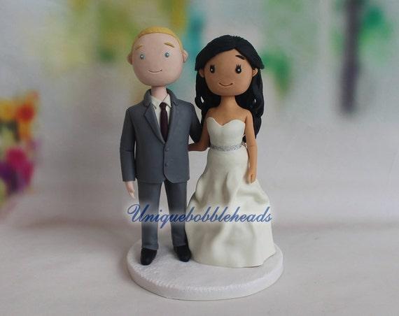 Cartoon wedding cake topper custom made figurines custom | Etsy