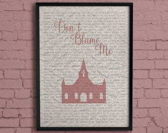 Don't Blame Me - Taylor Swift Inspired Typography Poster