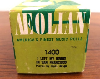 Vintage Aeolian 1400 Piano Roll: I Left My Heart In San Fancisco, Clyde Ridge