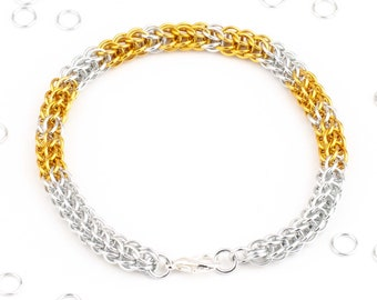 MOM Morse Code Chain Maille Bracelet, Custom, Various Colours, Special Meaning, Mother Gift