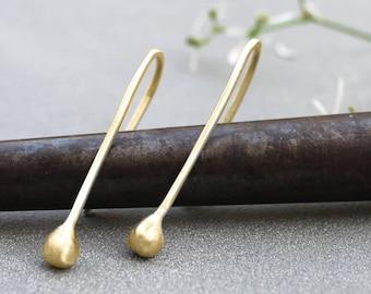 Gold Long Dangle Earrings for Women, Long Dangle Gold Earrings, Long gold earrings for women, long drop earrings, Trending earrings