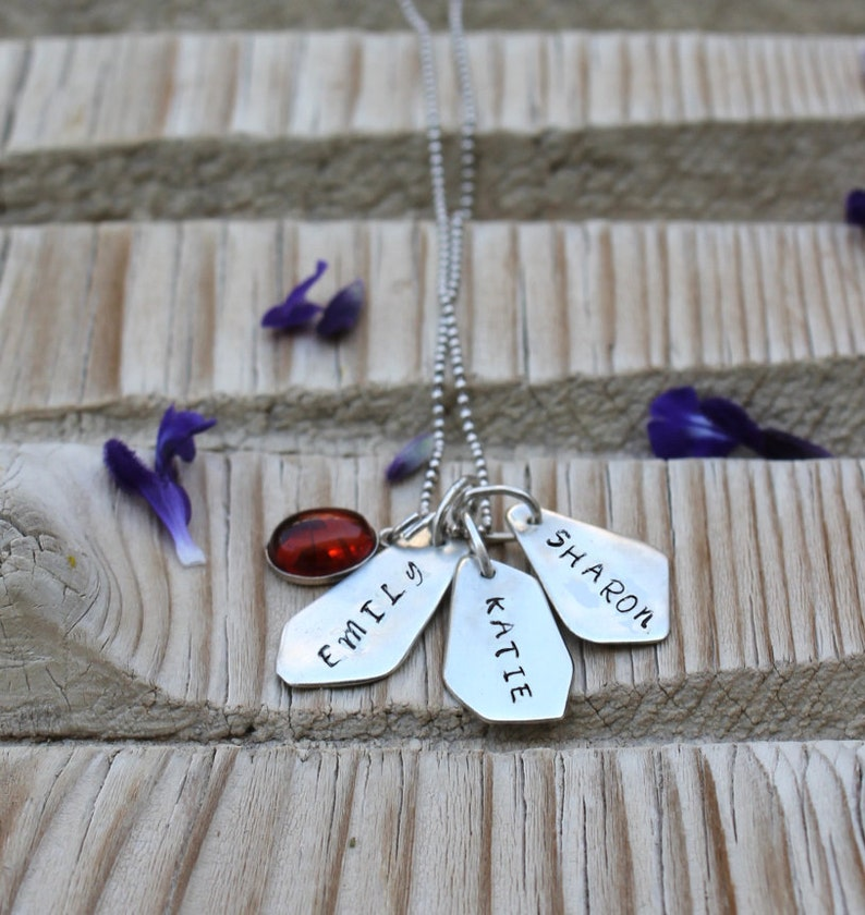 Family Necklace Personalized Necklace with Kids Names Necklace for Mom Necklace Sterling Silver Children Name Necklace Custom Name Necklace