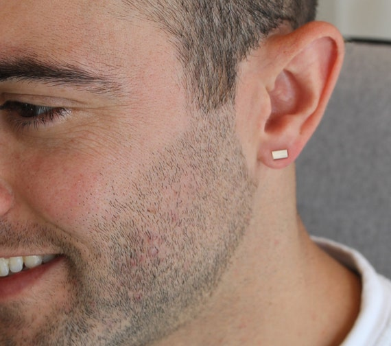 c717bb8ac Men Earrings for Men Silver Man Earrings Men Stud Earrings Men | Etsy