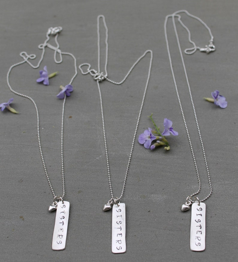 Three Sisters Sisters gift 3 Sisters Necklace Middle Sister Little Sister Sisters Necklace Big Sister Big Sis Mid Sis Lil Sis Necklace