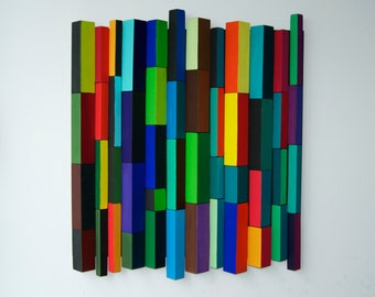 Ripples - Eucalipt  / Wood Wall Art / Original 3D Mosaic