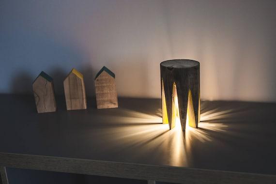 Lampe de bureau en bois lampes en bois naturel design moderne