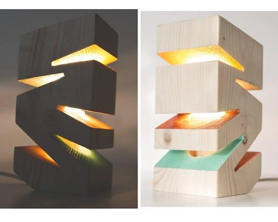 Wooden Desk Lamp Natural Wood Lamps Modern Design Lamps Lighting Modern Lamps Lampshades Night Lights Sunrise