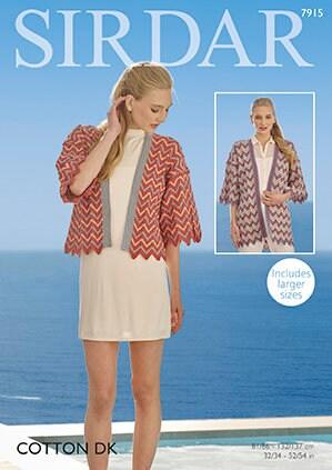 57bfb2cc1 Sirdar cotton dk knitting pattern kimonos double knit yarn