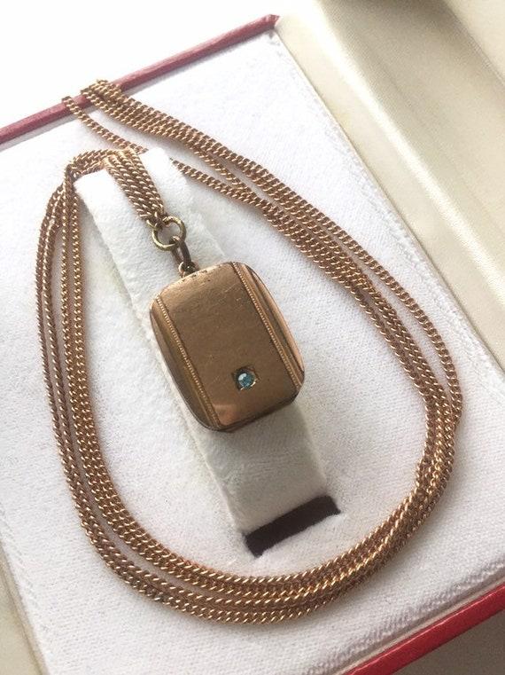 ANTIQUE LOCKET NECKLACE 1940s antique locket penda
