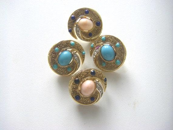 TRIFARI VINTAGE EARRINGS Vintage Trifari earrings… - image 5