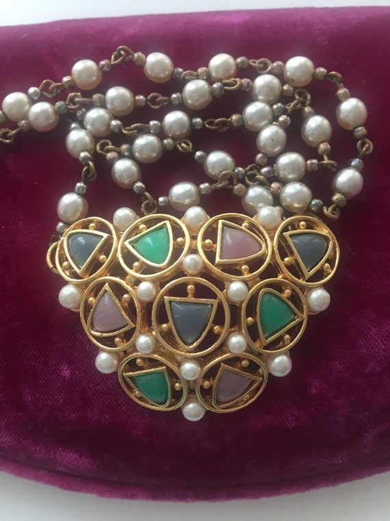 VINTGE FRENCH NECKLCE Vintage 1980s French Necklac