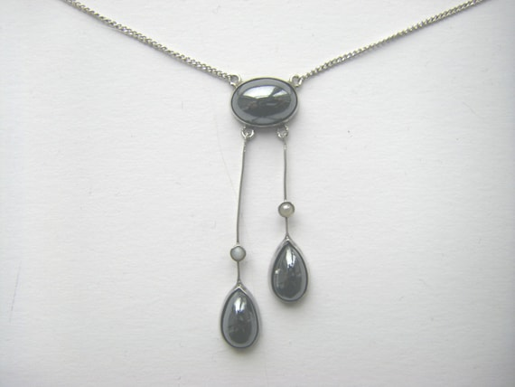 STERLING VICTORIAN NECKLACE Antique sterling victo