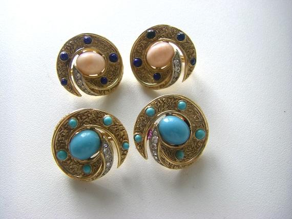TRIFARI VINTAGE EARRINGS Vintage Trifari earrings… - image 2