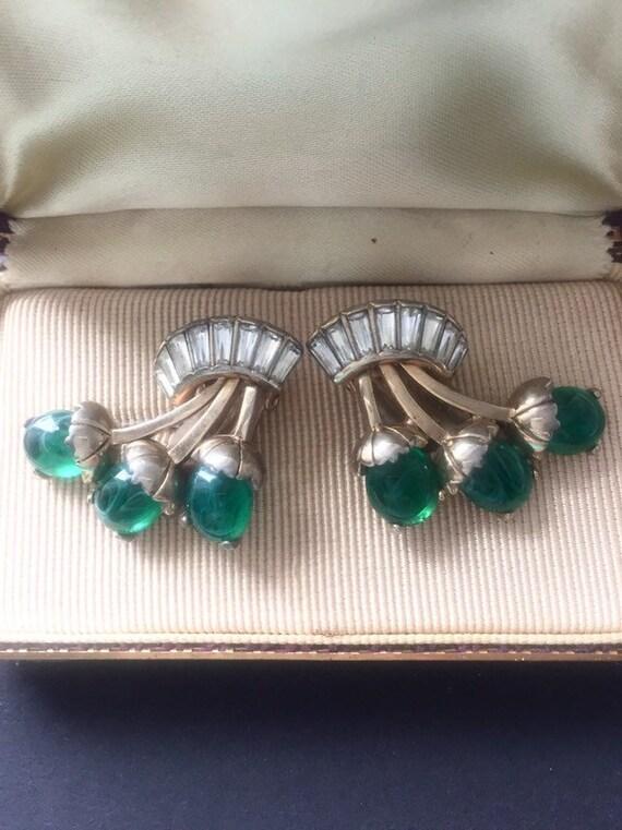 SCHIAPARELLI ANTIQUE  EARRINGS Antique Schiaparell