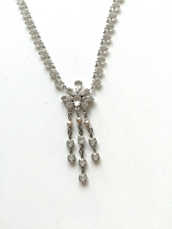 ANTIQUE VICTORIAN NECKLACE Victorian Glass Pearl n