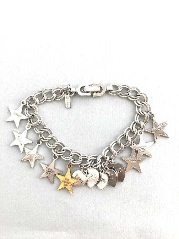 MONET CHARM BRACELET Vintage Monet charm braceler… - image 5