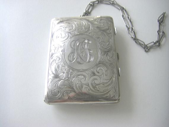 ANTIQUE STERLING PURSE Victorian Antique Sterling