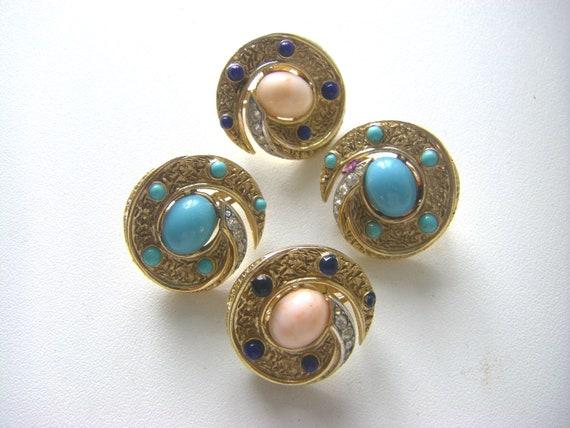 TRIFARI VINTAGE EARRINGS Vintage Trifari earrings… - image 3