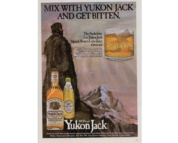 Items Similar To Vintage Magazine Advertisement For Yukon Jack