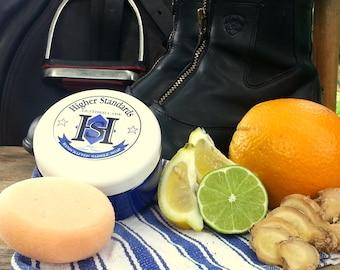 Buzz's Citrus Ginger -- Handcrafted Saddle Soap -8 oz plastic jar