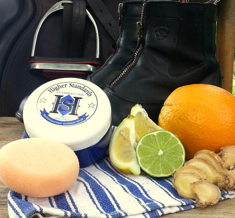 Buzz's Citrus Ginger  Handcrafted Saddle Soap 8 oz image 0