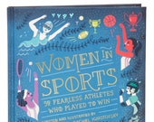 Women in Sports hardcover book, custom signed book by author.