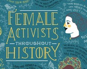 Female Activist Throughout History Poster