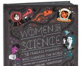 Women in Science hardcover book, custom signed book by author.