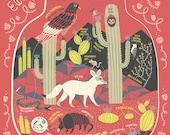A Desert Ecosystem: Terrarium Art Print
