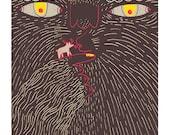 Yeti Love Art Print