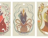 Food Chain Series: 3 Art Print Deal!