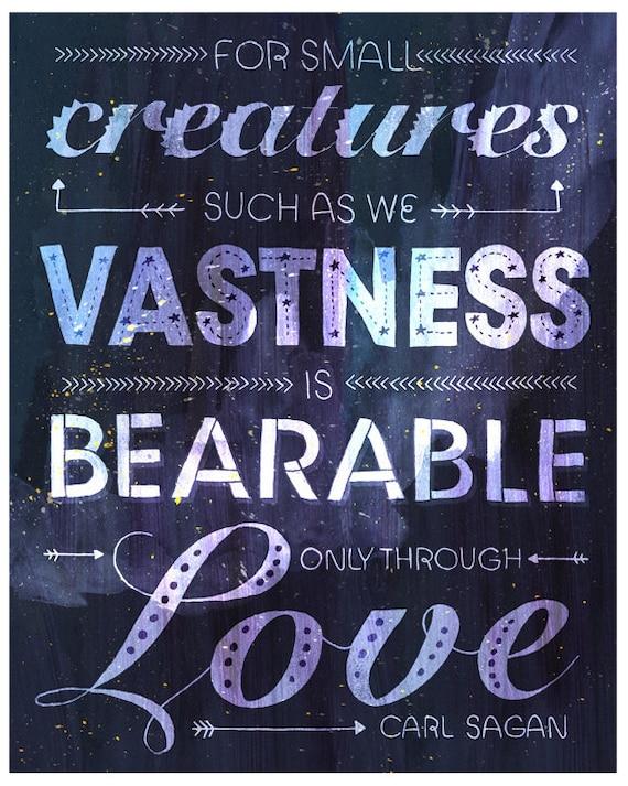 Typographic Carl Sagan Love Poster Etsy Amazing Carl Sagan Love