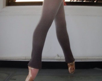 100% Wool Custom Dip Dyed Knit Ballet Leg Warmers - Full Length