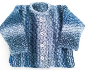 Free Knitting Pattern Easy Baby Sweater Simply Splendid Etsy