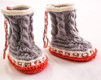 Knitting Pattern Pdf Baby Booties Side Buttoned Baby Boots Etsy