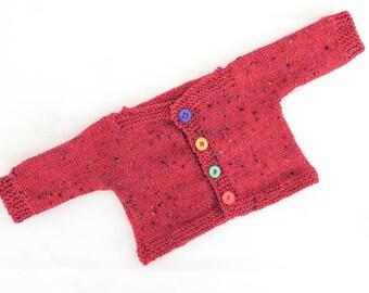 Knitting Pattern Baby Wrap Cardigan Baby Sweater 7 Sizes Etsy
