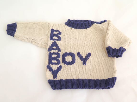 Knitting Pattern Baby Sweaters Crossword Baby Sweater Baby Etsy