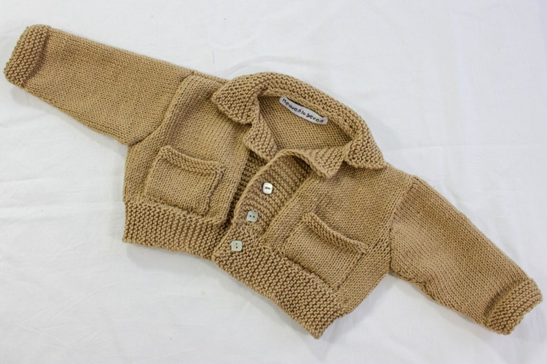 5fee23fe4 KNITTING PATTERN Baby Boy Sweater Buttoned Baby Jacket