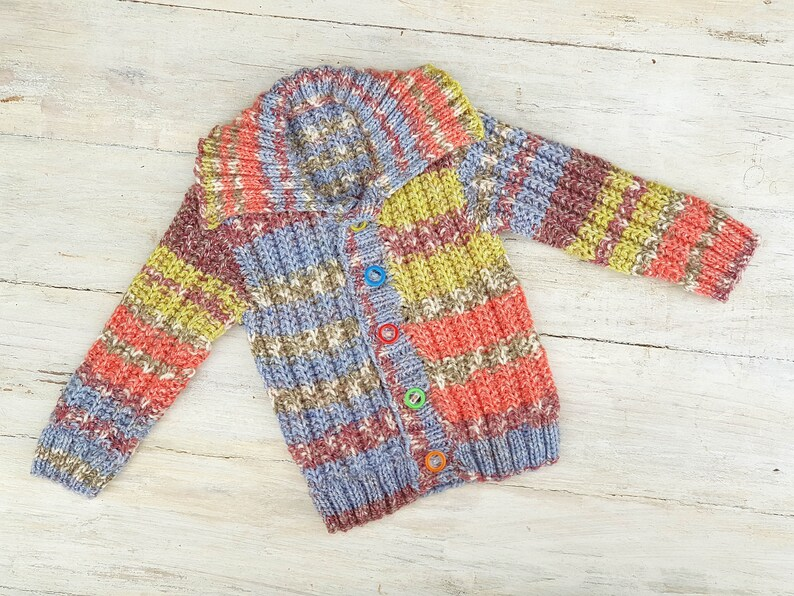 c0fb21a3c KNITTING PATTERN PDF Jakobs Coat Boy s Cardigan Baby
