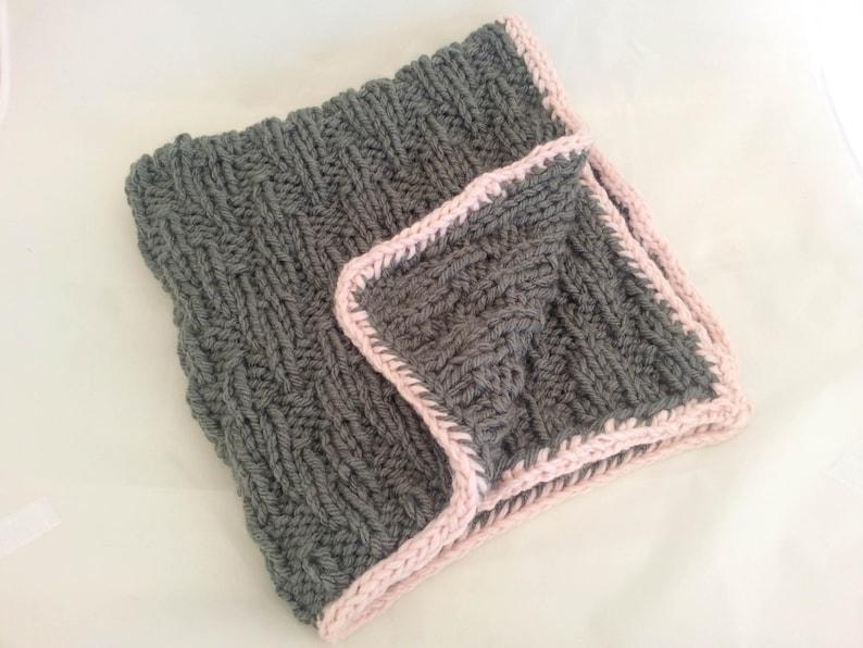 KNITTING PATTERN Baby Blanket Super Chunky Yarn Chic | Etsy
