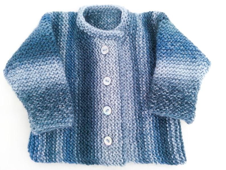 b92d59d2b KNITTING PATTERN Garter Stitch Baby Cardigan Baby Sweater